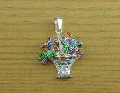 Cestino di Fiori  Ciondolino in argento 925 di GioielliOliveri