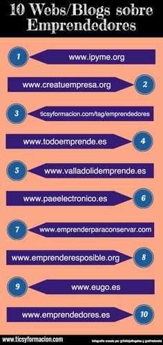 10 Webs/Blogs sobre Emprendedores. #infografia