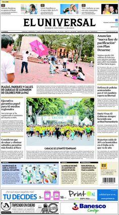 @Eluniversal #Portadas #PrimeraPagina #Titulares #Noticias #DesayunoInformativo