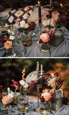 Boho wedding: 40 inspirations to fall in love with – wedding box Boho Hochzeit: 40 Inspirationen zum Verlieben – Hochzeitskiste Boho wedding to fall in love with decoration ideas Wedding Reception Ideas, Boho Wedding Decorations, Wedding Table Centerpieces, Wedding Boxes, Flower Centerpieces, Fall Wedding, Diy Wedding, Rustic Wedding, Wedding Planning
