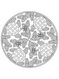 coloring page Mandala Christmas on Kids-n-Fun. Coloring pages of Mandala Christmas on Kids-n-Fun. More than coloring pages. At Kids-n-Fun you will always find the nicest coloring pages first! Mandalas Painting, Mandalas Drawing, Mandala Coloring Pages, Printable Coloring Pages, Coloring For Kids, Coloring Sheets, Coloring Pages For Kids, Coloring Books, Christmas Mandala
