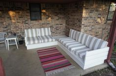 Outdoor sectional couch | Do It Yourself Home Projects from Ana White