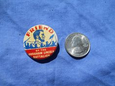 REPRO Friend of Abraham Lincoln Battalion Brigade Button Pin Spanish Civil War in Collectables, Memorabilia, Historical | eBay