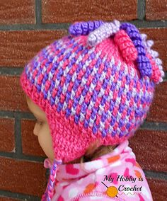FREE PATTERN     Crochet Earflap Hat Gum Drops  DISCLAIMER   First and foremost I take no credit for any of the FREE pattern links on this ...