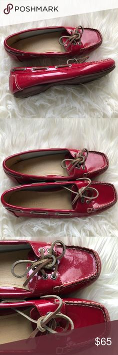 Sperry Top Sider red boat shoes. Size 6. Never worn! Size 6 Sperry Top-Sider Shoes Flats & Loafers