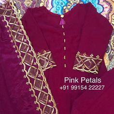 Instagram post by Pink Petals Punjabi Boutique • Nov 24, 2018 at 12:01pm UTC Punjabi Suit Boutique, Punjabi Suits Designer Boutique, Boutique Suits, Designer Salwar Suits, Indian Designer Outfits, Embroidery Suits Punjabi, Embroidery Suits Design, New Style Suits, Bridal Suits Punjabi