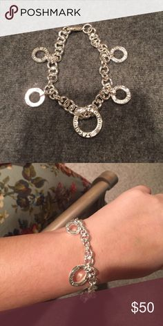"""Tiffany & Co charm Bracelet Not authentic- but it looks like it... 😏😉 Tiffany and Co. gift bracelet. Never used. Silver with 5 charms reading: """"T & Co 1937"""" Tiffany & Co. Jewelry Bracelets"""