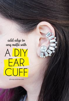 DIY this season's hottest accessory with our ear cuff tutorial. #DIY #Style