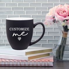 Drink in style with our personalized, custom engraved ceramic bistro coffee mugs! These high-quality coffee mugs are laser engraved and not printed images and have absolutely no vinyl, which means these mugs will last a lifetime! Great Gifts For Dad, Gifts For Him, Custom Mugs, Custom Items, Unique Gifts, Best Gifts, The Day Will Come, Monogram Design, Personalized Mugs