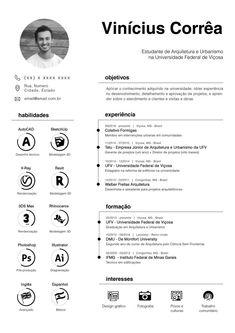 Resume Curriculum Vitae Architecture Urbanism -  - #Architecture