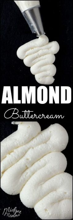 Almond Frosting is an Almond buttercream frosting that tastes just like the frosting you get from a bakery.This Almond Frosting is an Almond buttercream frosting that tastes just like the frosting you get from a bakery. Almond Buttercream Frosting Recipe, Cupcake Frosting, Frosting Recipes, Cupcake Recipes, Cupcake Cakes, Almond Cake Recipes, Almond Wedding Cakes, Wedding Cake Frosting, Birthday Cake Icing