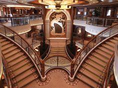 The Grand Lobby on board Queen Elizabeth.