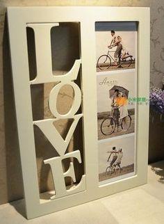 031213 LOVE the season of European original single wooden creative photo frame picture hanging