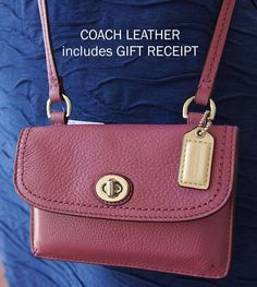 Coach Park LEATHER Dylan Mini CROSSBODY Purse WALLET Phone Case F51152 SV/ROSE -- BUY NOW @ $65.99