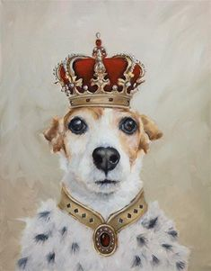 "Daily Paintworks - ""King Jazzy"" - Original Fine Art for Sale - © Clair Hartmann"