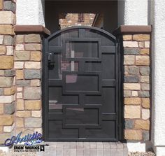 Wrought Iron Courtyard Entryway - Model: CE0468