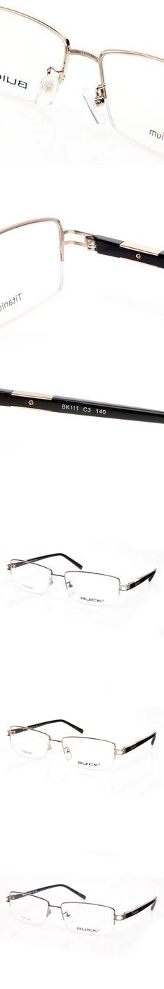 New Style Men Titanium Clear Lens Eyeglasses Half Frame Spectacle Glasses BK111 High Quality Optical Eyewear Branded Eyeglass