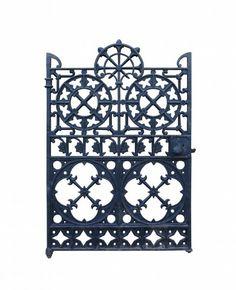 ORNATE ANTIQUE CAST IRON SIDE GATE - UK Architectural Heritage