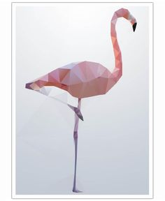 Flamingo Art Print by Three Of The Possessed now on  Juniqe.com | Art. Everywhere.