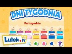 Dni Tygodnia - Moje Pierwsze Słowa Education, Film, Games, School, Music, Speech Language Therapy, Therapy, Polish, Learning