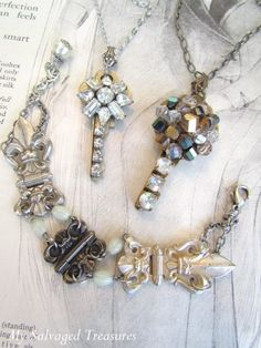 My Salvaged Treasures: Repurposed Jewels, Rainy Weekend Projects