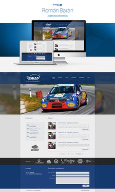 Projekt strony www dla Romana Barana - Zawodnika AutoMobilKlubu Rzeszowskiego