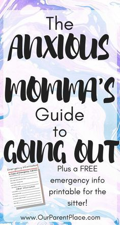 Learn how to bust your anxiety and finally have a night out! #mom #motherhood