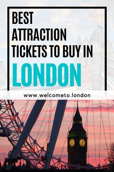 Your search ends here for the best offers and tickets to London's must-see attractions, such as the London Eye, the Shard, Tower of London and much more! London Tours, London Hotels, Tower Of London, London Travel, Top Attractions In London, London Must See, London Accommodation, Visit England