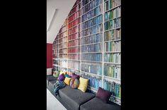 09 Apartment in Gdańsk//Formativ. Poland, Bookcase, Shelves, Interior Design, Home Decor, Nest Design, Shelving, Decoration Home, Home Interior Design