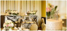 Lovely sweetheart table and backdrop, décor by Posh Beyond Events, photo by Darlington Studios