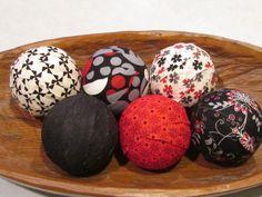 Decorative Balls For Bowl Purple Rain Decorative Fabric Rag Balls Fabric Chotchkies Fabric