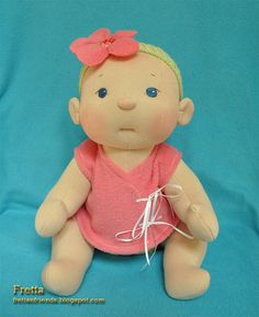 Fretta's  BeBe Cheeks Doll. Fair Skin light by FrettasLovableDolls