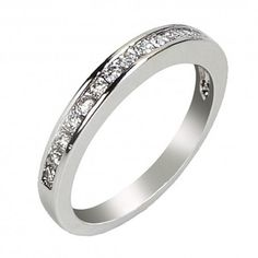 Dainty Princess-Cut Wedding band for her <3  See more at: www.devuggo.com