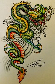Chinese Dragon Art. I love all of the bright colors!