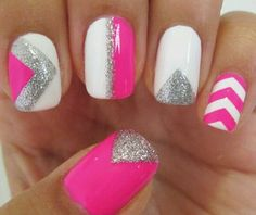 different pink nail designs Hot Pink Nails 2013