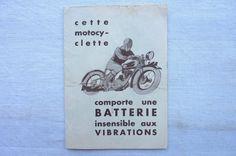 Batteries pour Motocyclettes HUITRIC M.V.6 in Collections, Objets publicitaires, Publicités papier, Motos, scooters, vélos | eBay