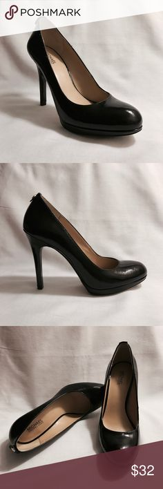 Michael Kors Black Heels In great condition! You wouldn't know they've been used, except for the small nick on the left heel & non-slip grip pads on both soles (see pics). Both aren't noticeable. Great for work and play! Michael Kors Shoes Heels