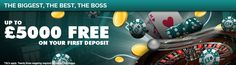 Welcome to SlotBoss, the UK online casino that brings you the biggest bonuses and the best games. Hit our online slots and casino games for some serious megajackpots or try your luck with online blackjack and online roulette. Online Roulette, Casino Games, Online Casino, Best Games, Slot, Promotion, Boss, Free