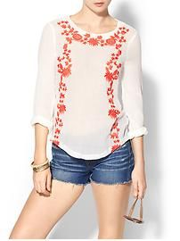 Sabine Embroidered Mexicali Top