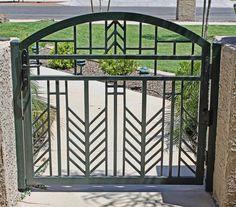 frank lloyd wright style gates | Marketplace Hours: Metal Gates, Wrought Iron Gates, Metal Screen, Modern Entrance, Modern Fence, Frank Lloyd Wright Style, Grill Gate, Garden Torch, Custom Gates