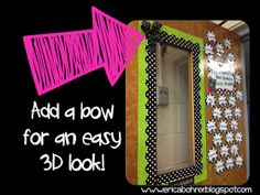 Love the way this door looks with the double border and the bow!  So cute.