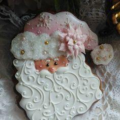 Teri Butler Wood: Christmas. Santa face four ways! Stunning!