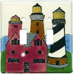 Lighthouses Light Switch Plates, Outlet Covers, Wallplates