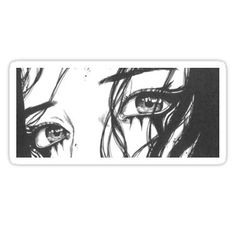 """Anime Glitch Eye Art"" Sticker by blzabub Aesthetic Art, Aesthetic Anime, Aesthetic Drawing, Drawing Sketches, Art Drawings, Sad Girl Drawing, Japanese Eyes, Anime Tattoos, Cute Anime Pics"