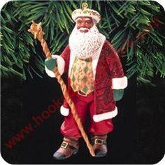1999 Joyful Santa #1 Hallmark Ornament