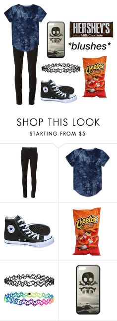 """Untitled #664"" by xxghostlygracexx ❤ liked on Polyvore featuring J Brand, Haus of JR, Converse and Accessorize"