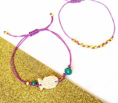 Colorful and Playful Bracelet Set, Polymer Clay Fish Bracelets, Purple Teal White, Bohemian Jewelry, Gift for Fish Lover, Beach Jewellery by BeeJouJoux on Etsy