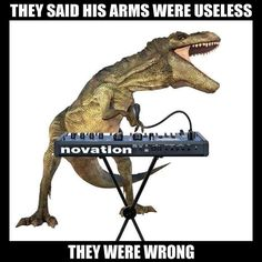 Dinosaurs meet Dubstep? Rexcision! I would do a whole exhibit on the truth behind dino memes!