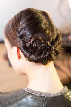 Lovely Runway braid look  NYFW Fall 2013 Hairstyles: Christian Siriano