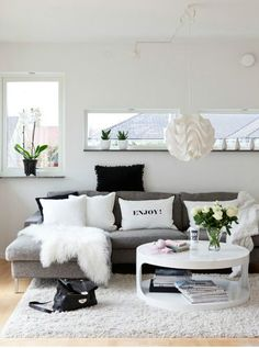 Home Decoration Designs: Create a Black and White Living Room | Pretty Designs
